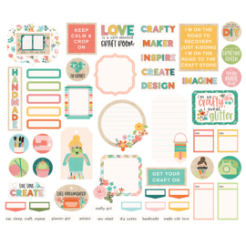 Hey, Crafty Girl Journal Bits & Pieces - Unit of 3