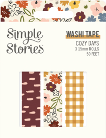 Cozy Days Washi Tape - Unit of 3