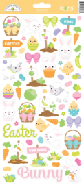Hoppy Easter Icon Stickers  - Unit of 3