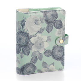 Mint Vintage Floral Personal Planner Cover- Unit of 1