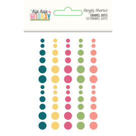 Hip Hop Hooray  Enamel Dots- Unit of 3