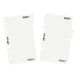 Personal Divider Templates - Unit of 3