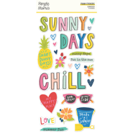 Sunkissed - Foam Stickers- Unit of 3