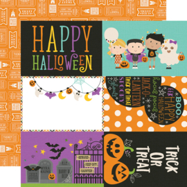 "Say Cheese Halloween 4x6 Elements  Double Sided 12x12"" - Unit of 5"
