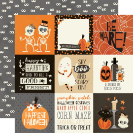 "Boo Crew- 4x4 Elements Double Sided 12x12"" - Unit of 5"
