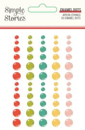 Apron Strings - Enamel Dots- Unit of 3