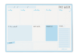 Weekly Planner Pad Sky Blue- Unit of 1