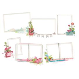 Simple Vintage Botanicals Chipboard Layered Frames- Unit of 3
