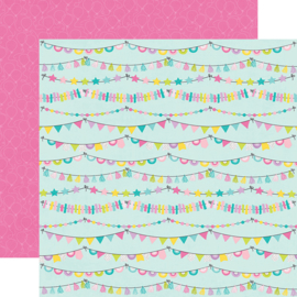 """Magical Birthday  Party Time Double Sided 12x12"""" - Unit of 5"""