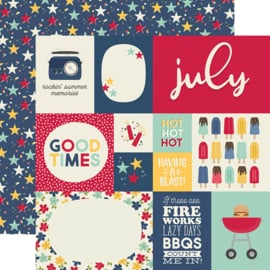 "Best Year Ever July Double Sided 12x12"" - Unit of 5"