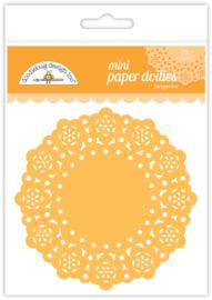 Tangerine Mini Doilies - Unit of 3