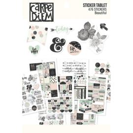 Beautiful Sticker Tablet - Unit of 3