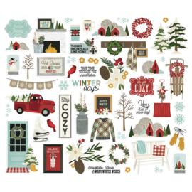 Winter Farmhouse Bits & Pieces - Unit of 3