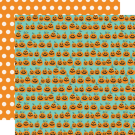 "Say Cheese Halloween Hey Pumpkin Double Sided 12x12"" - Unit of 5"