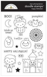 Happy Halloween Doodle Stamps - unit of 1