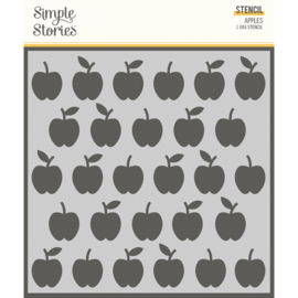 School Life - 6x6 Stencil - Apples- Unit of 3