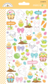 Hoppy Easter Mini Icon Stickers  - Unit of 3