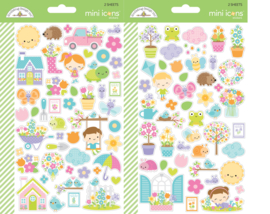 Simply Spring Mini Icon Stickers - Unit of 3