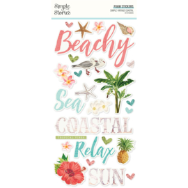 Simple Vintage Coastal - Foam Stickers Unit of 3