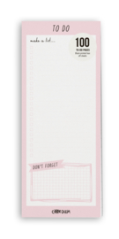 Magnetic To Do List Pink - Unit of 1