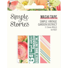 SV Garden District Washi Tape - Unit of 3