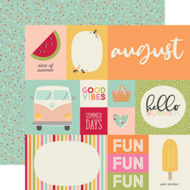 "Best Year Ever August Double Sided 12x12"" - Unit of 5"