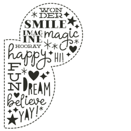 Say Cheese 4 All Ears 6x6 Stencil - Unit of 3
