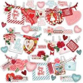 My Valentine Banner Stickers - unit of 3