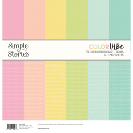 Color Vibe Textured Cardstock Kit - Lights  - Unit of 3