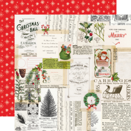 "SV North Pole - Merry Memories Double Sided 12x12"" - Unit of 5"