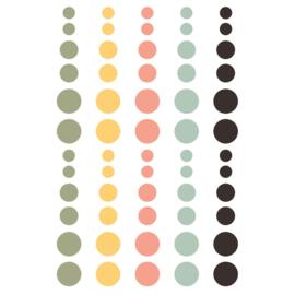 Spring Farmhouse Enamel Dots - Unit of 3