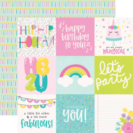 """Magical Birthday  4x4 Elements Double Sided 12x12"""" - Unit of 5"""