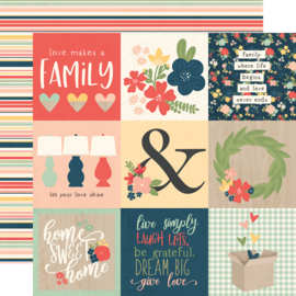 "So Happy Together 4x4 Elements Double Sided 12x12"" - Unit of 5"