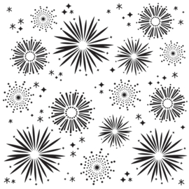 Say Cheese 4 Fireworks 6x6 Stencil - Unit of 3
