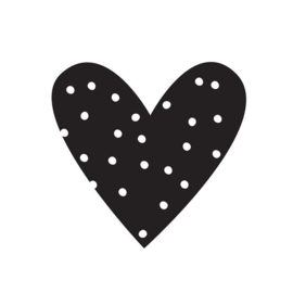 Heart Black Planner Decal Planner Decal - Unit of 3