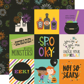 "Say Cheese Halloween 4x4 Elements  Double Sided 12x12"" - Unit of 5"