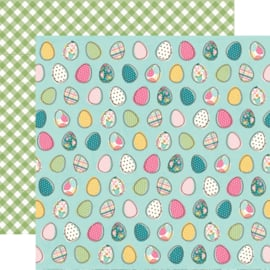 "Hip Hop Hooray Egg-stra Special Double Sided 12x12"" - Unit of 5"