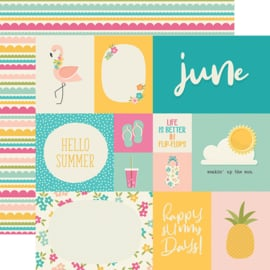 "Best Year Ever June Double Sided 12x12"" - Unit of 5"