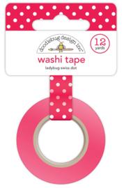 Ladybug Swiss Dot Washi Tape Unit of 3