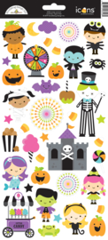 Candy Carnival Icons Stickers - unit of 3