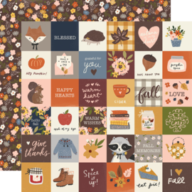 "Cozy Days Cozy Days -2x2 Elements Double Sided 12x12"" - Unit of 5"