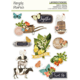 SV Farmhouse Garden - Layered Stickers - Unit of 3