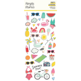 Sunkissed - Puffy Stickers- Unit of 3