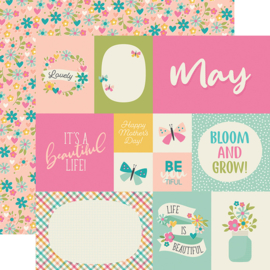 "Best Year Ever May Double Sided 12x12"" - Unit of 5"