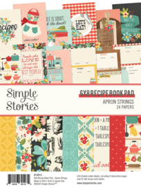 Apron Strings   - 6x8 Recipe Book Pad - Unit of 3
