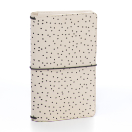 Cream Dot Traveler's Notebook- Unit of 1