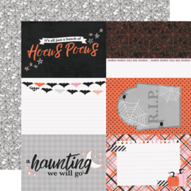 "Happy Haunting 4x6 Elements Double Sided 12x12"" - Unit of 5"