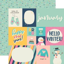 "Best Year Ever January Double Sided 12x12"" - Unit of 5"
