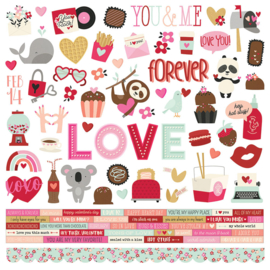 Sweet Talk - Cardstock Sticker  - unit of 3