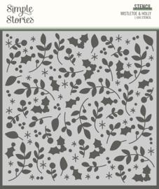 Jingle All the Way - 6x6 Stencil Mistletoe & Holly - unit of 3